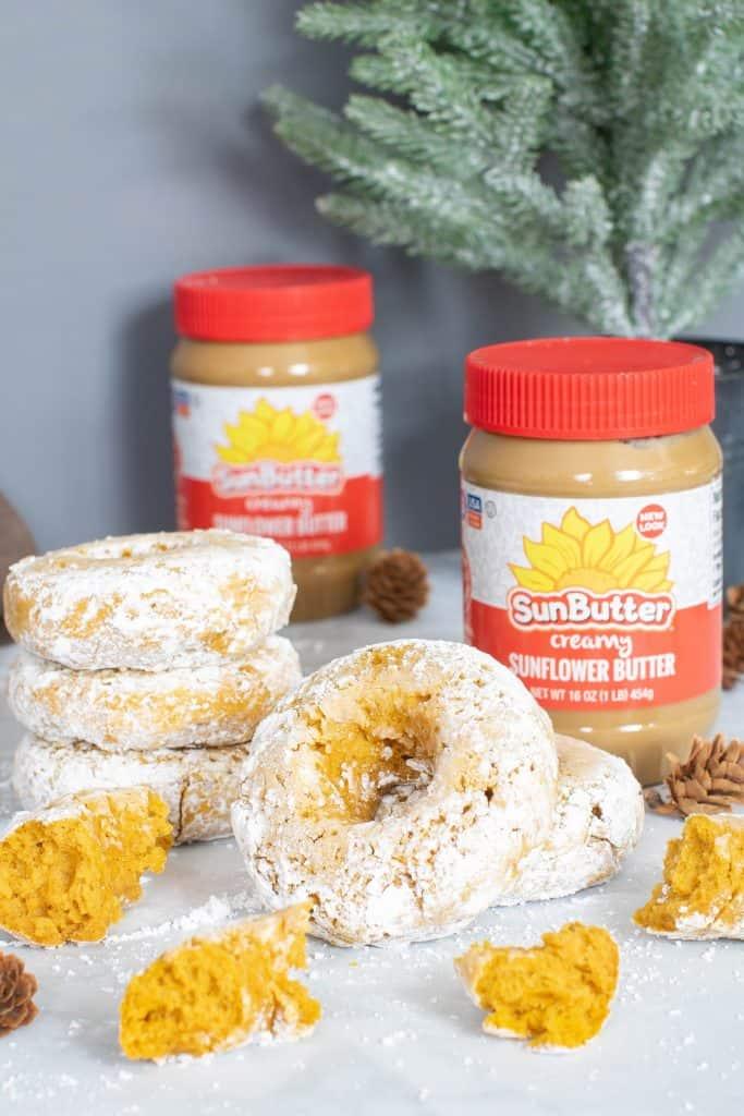 Easy Baked Pumpkin Sunflower Butter Donuts