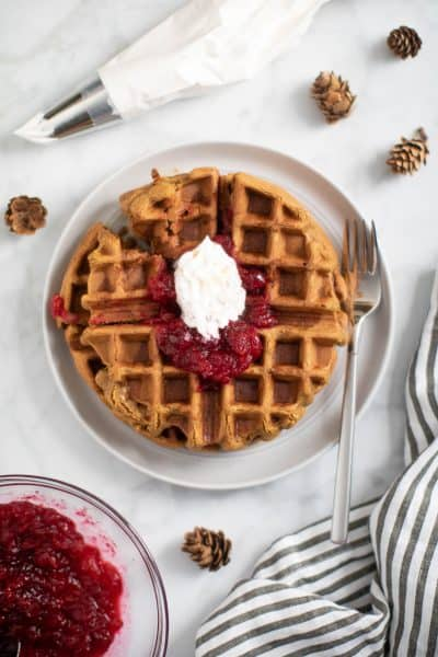 Easy Vegan Gluten-Free Gingerbread Waffles