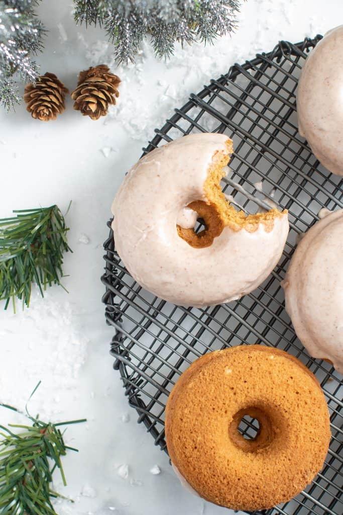 Vegan Gingerbread Donuts + Chai Glaze