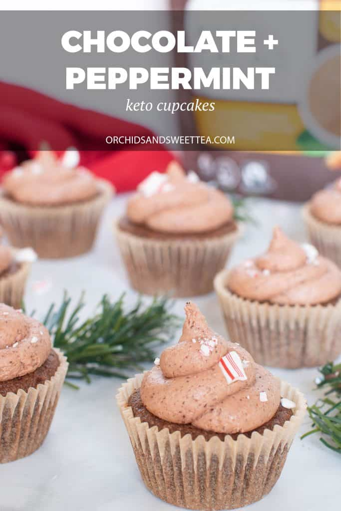 Best Keto Chocolate + Peppermint Cupcakes
