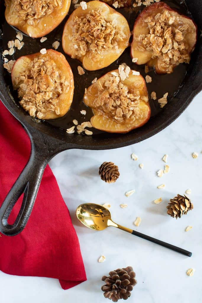 Vegan Baked Cinnamon Caramel Apples