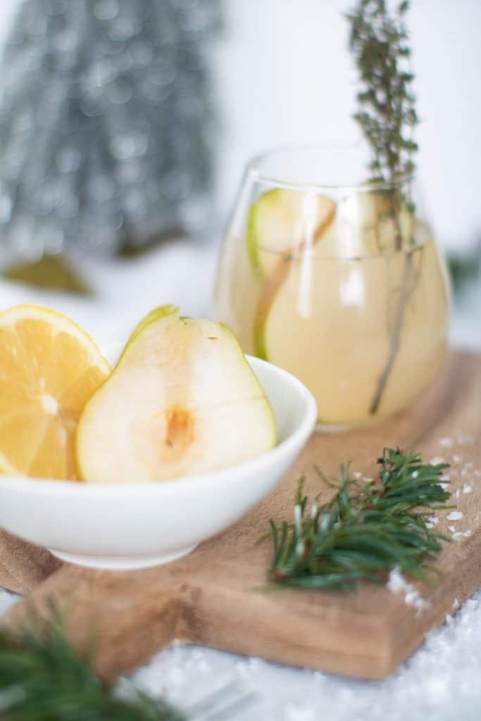 Pear Ginger Lemon + Thyme Drink