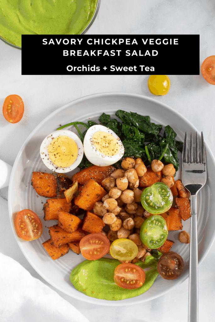 Savory Chickpea Veggie Breakfast Salad