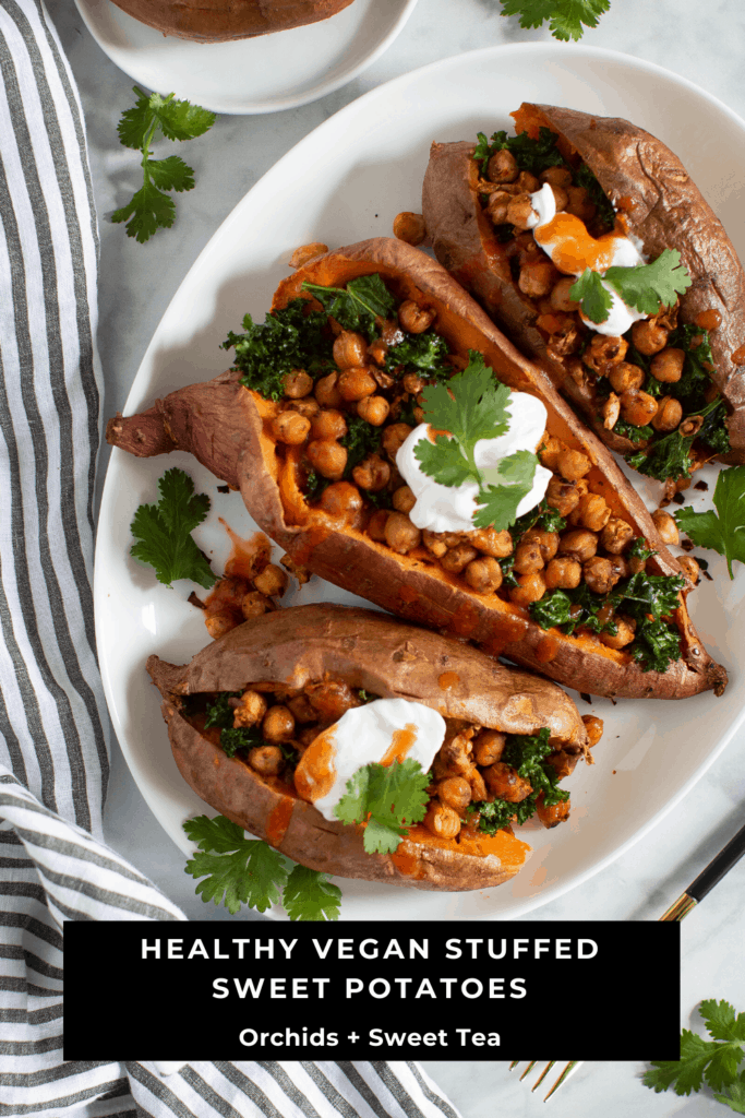 Healthy Vegan Stuffed Sweet Potatoes
