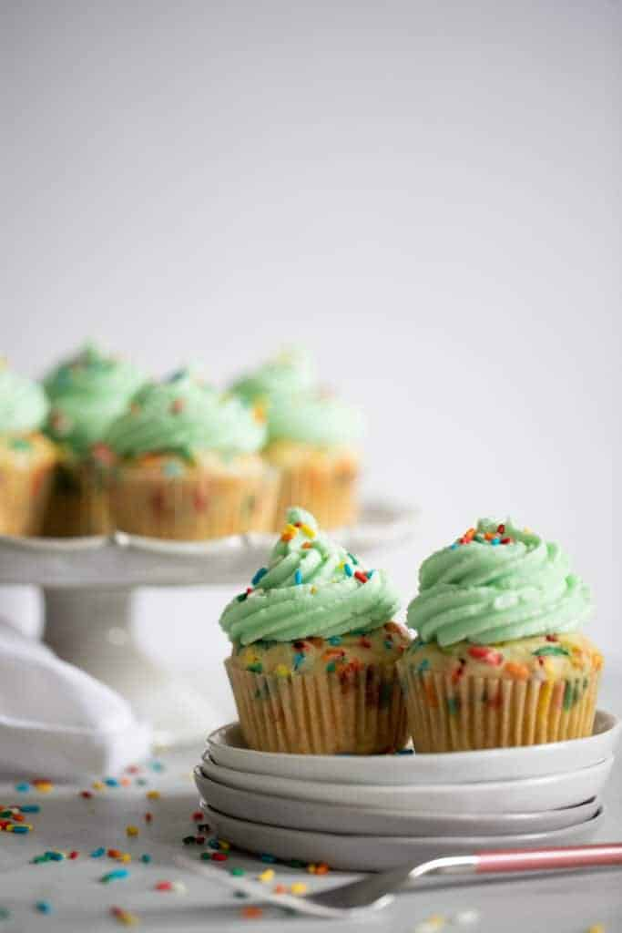 Homemade Vegan Funfetti Sprinkles Cupcakes