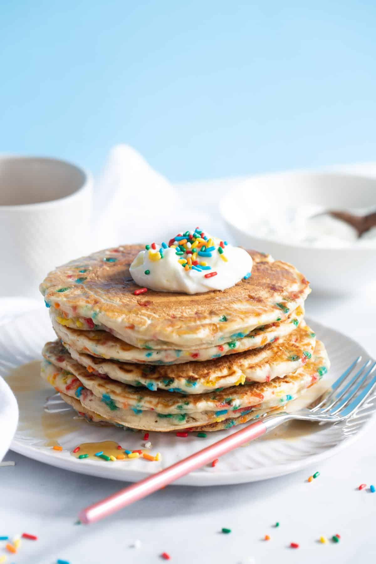 Quick + Easy Funfetti Vegan Pancakes