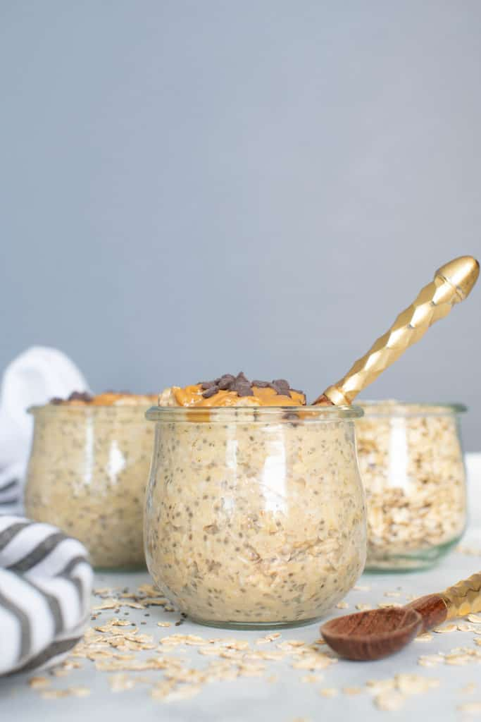 Peanut Butter Chia Seed Overnight Oats