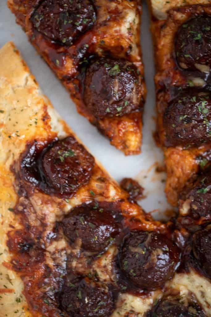 Best Texas Sriracha Meatball Pizza