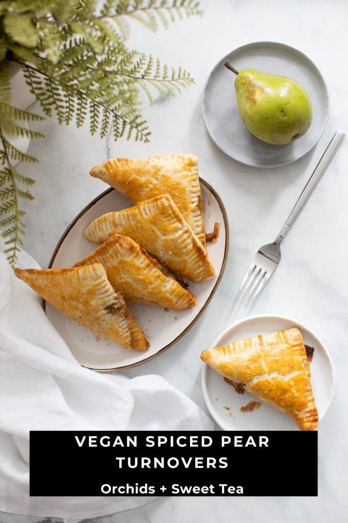 Vegan Spiced Pear Turnovers