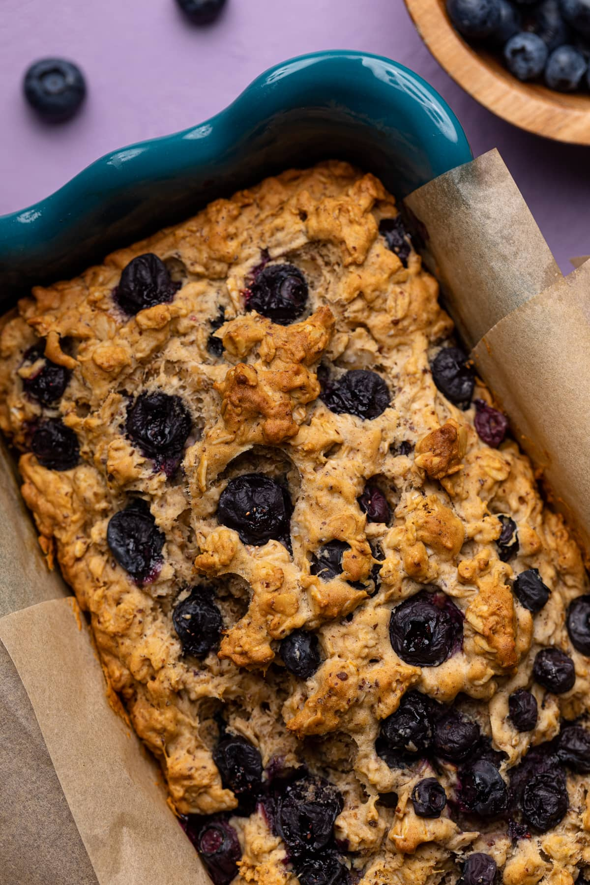 Healthy Blueberry Oatmeal Breakfast Bread