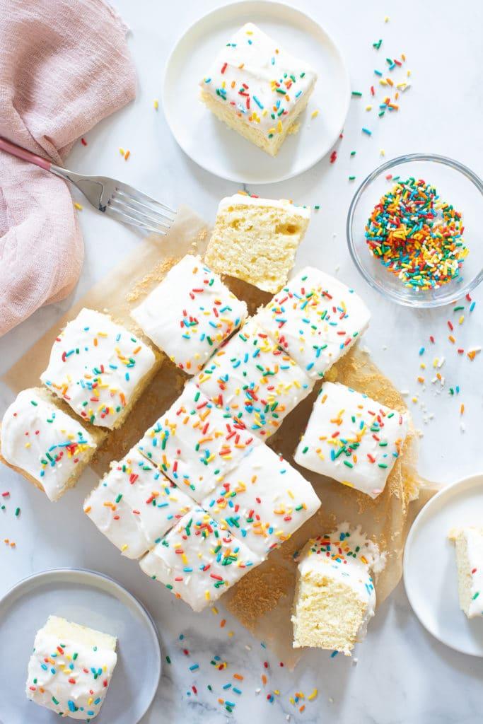 Awe Inspiring Perfect One Bowl Lemon Birthday Sheet Cake Orchids Sweet Tea Funny Birthday Cards Online Hendilapandamsfinfo
