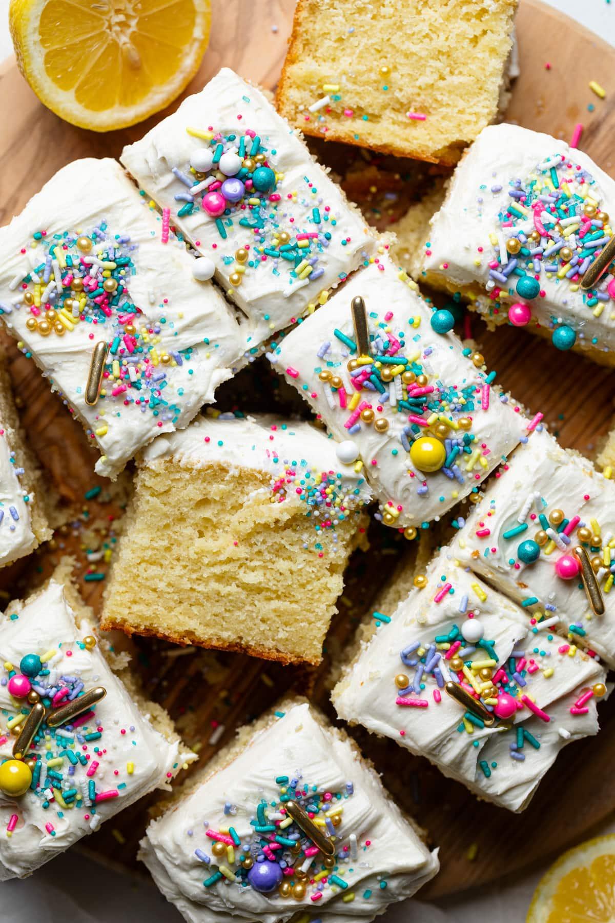 Perfect One-Bowl Lemon Birthday Sheet Cake