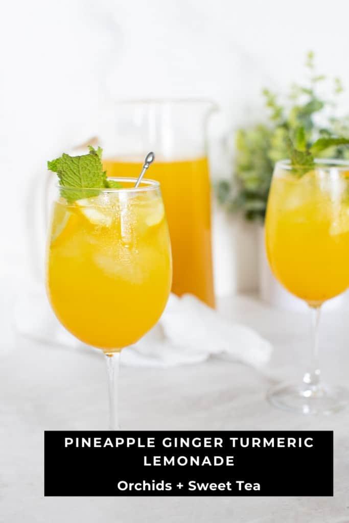 Pineapple Ginger Turmeric Lemonade