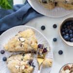 Dairy-Free Blueberry Almond Breakfast Scones