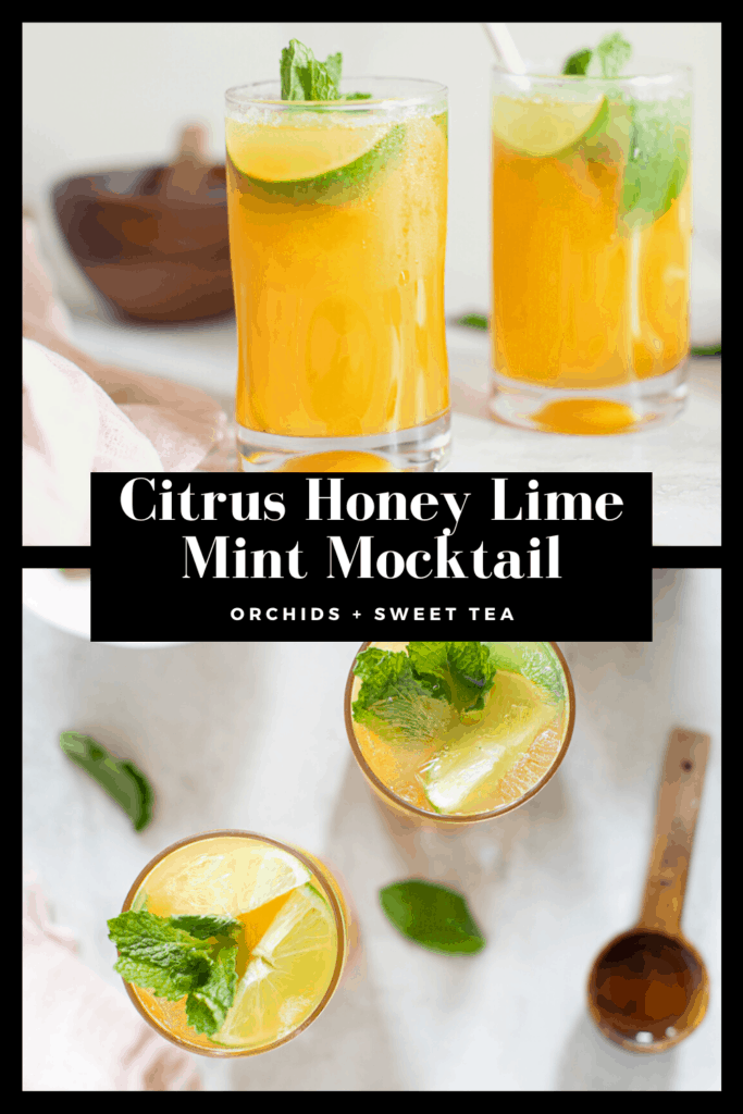 Citrus Honey Lime Mint Mocktail