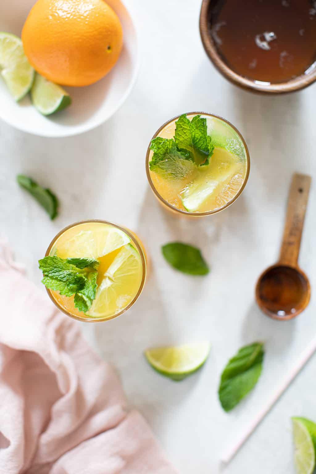 Citrus Honey Lime Mint Mocktail