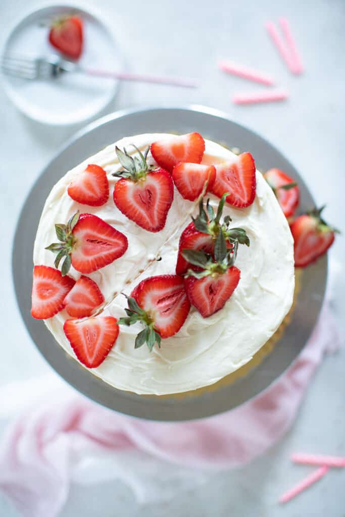 Best Strawberry Shortcake Birthday Cake