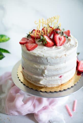 Best Strawberry Shortcake Birthday Cake