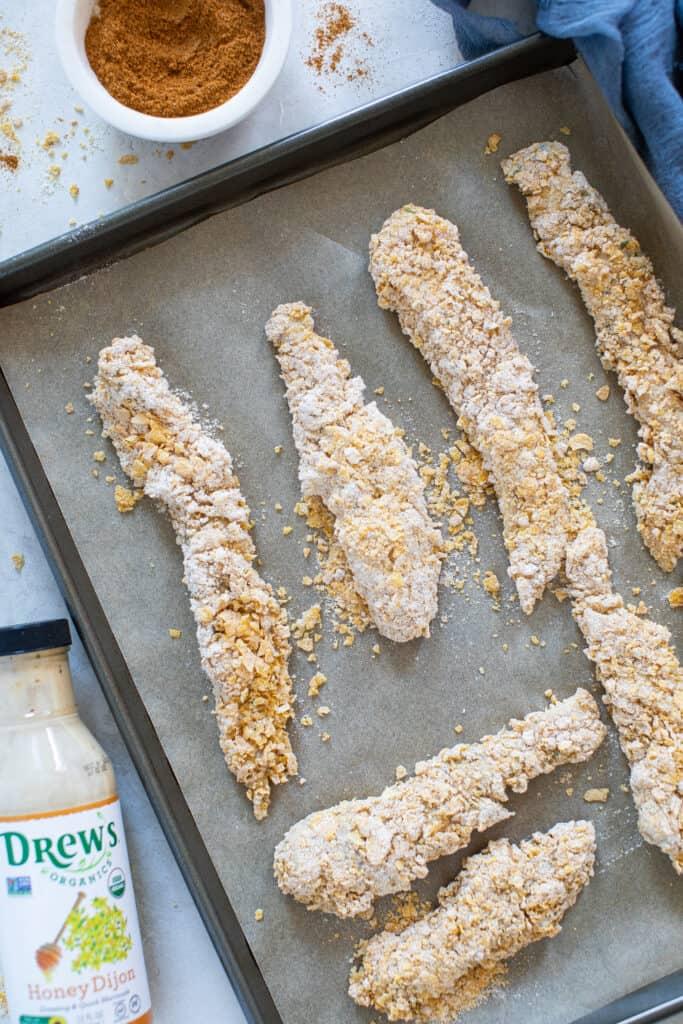 Baked Cajun Honey Dijon Chicken Tenders