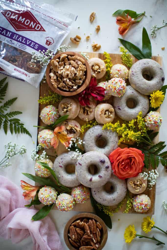 Summer Vegan Donut Board