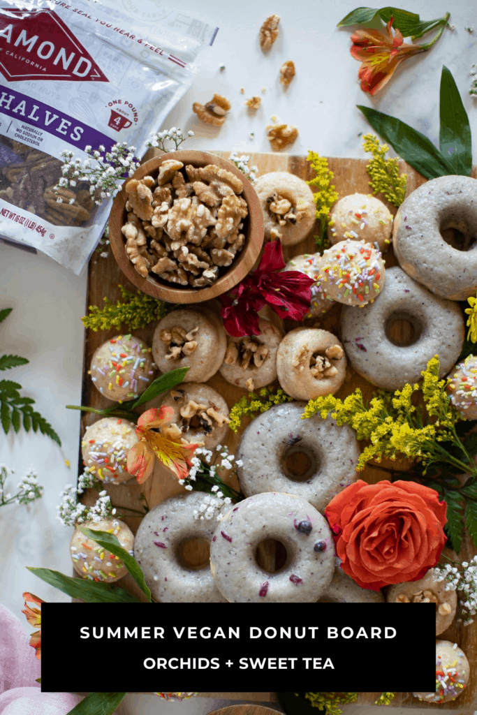 Summer Vegan Donut Board