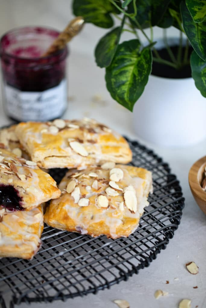Homemade Wild Blueberry Almond Pop Tarts