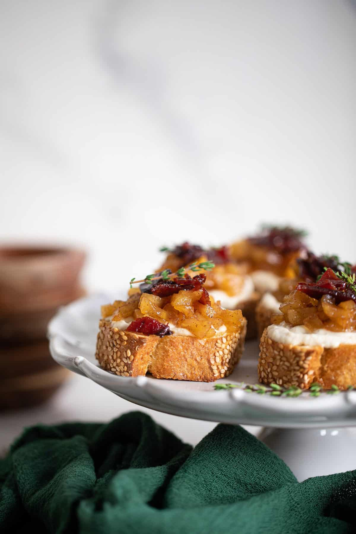 Fall Harvest Apple Bacon Crostini