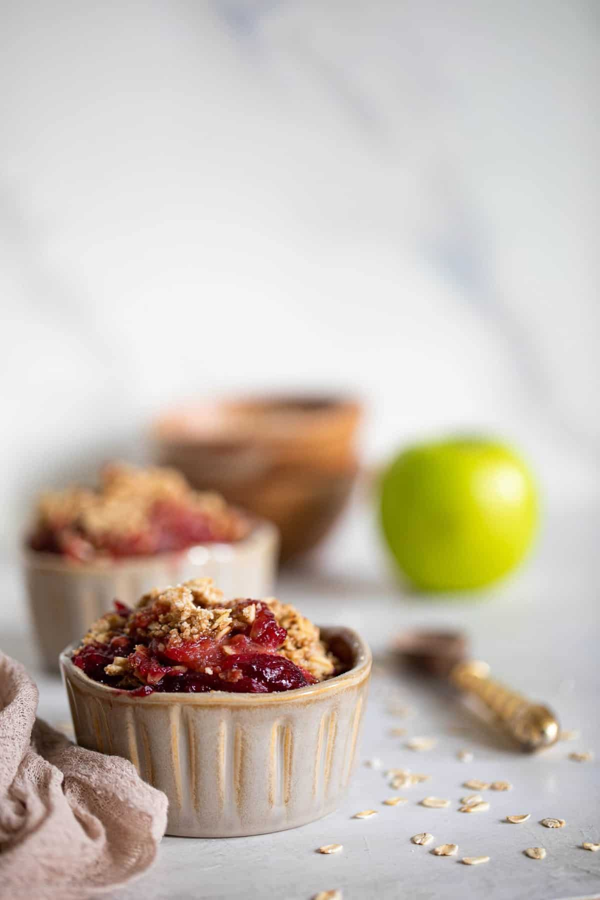 Vegan + Gluten-Free Apple Plum Crisp