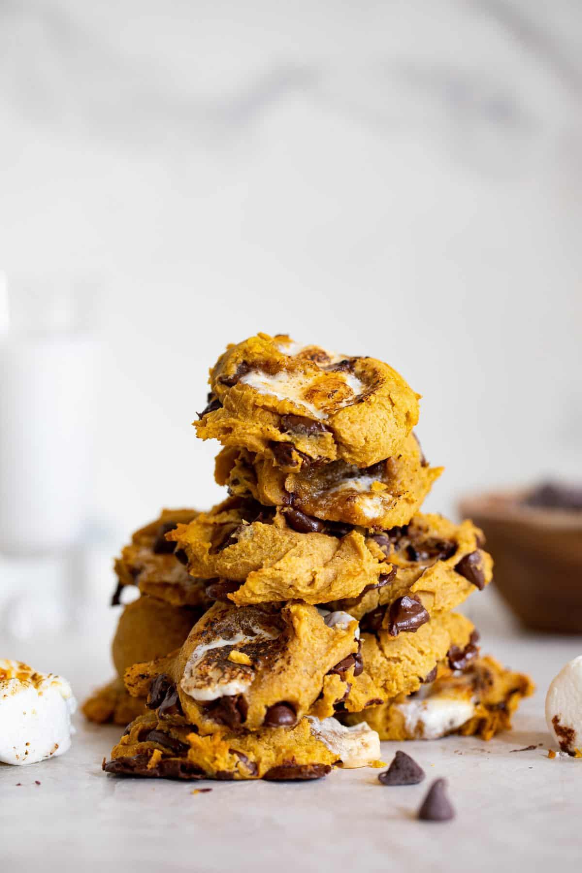 Gluten-Free Pumpkin S'Mores Cookies