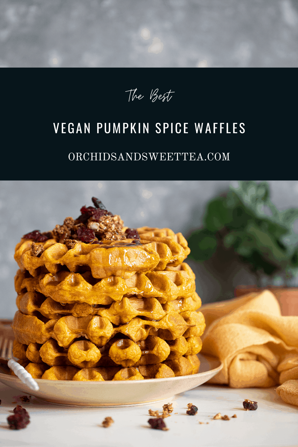 The Best Vegan Pumpkin Spice Waffles