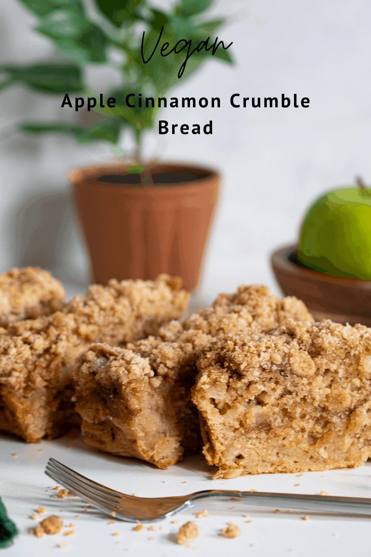 Vegan Apple Cinnamon Crumble Bread