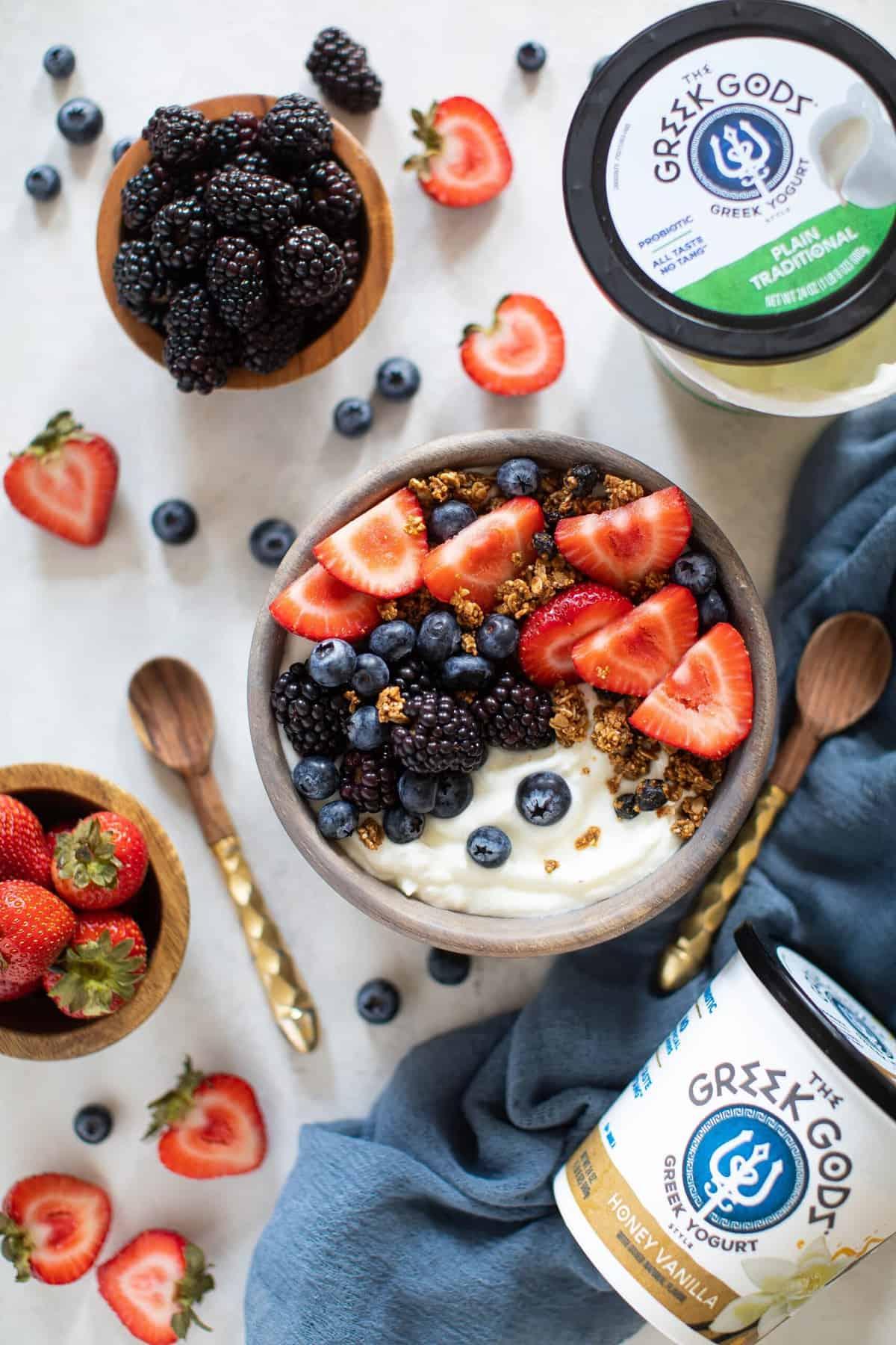 Healthy Greek Yogurt Breakfast Bowl