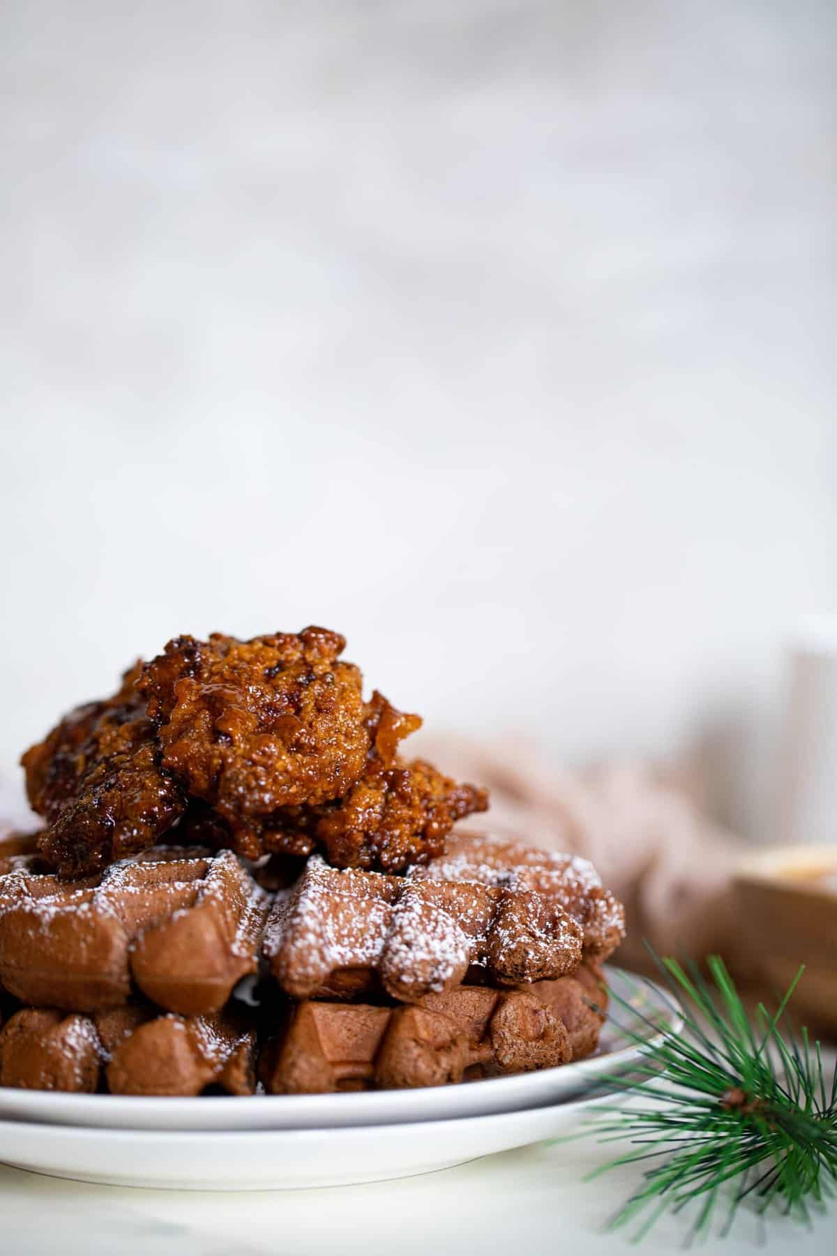 Hot Honey Chicken + Chocolate Waffles