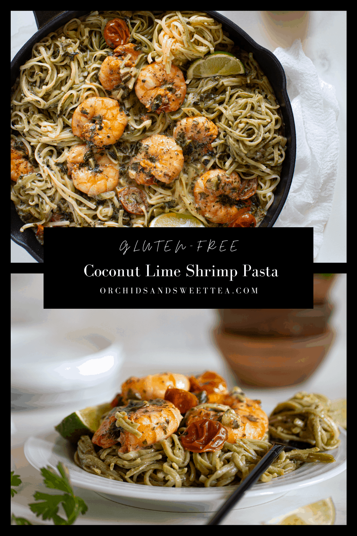 Gluten-Free Coconut Lime Shrimp Pasta