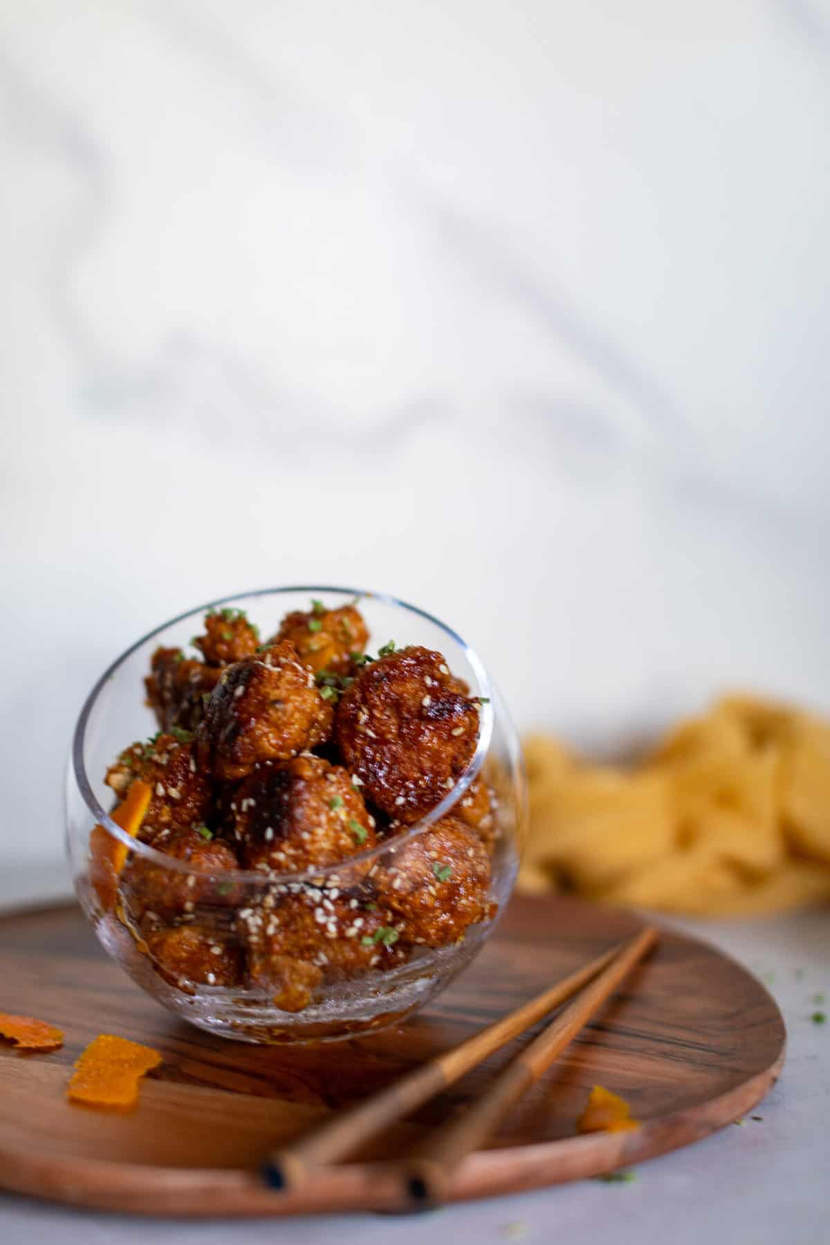 Crispy Baked Sticky Orange Cauliflower Bites