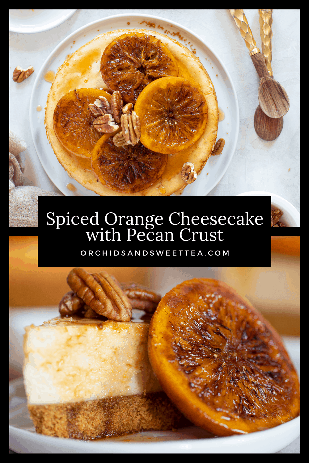 Spiced Orange Cheesecake with Pecan Crust