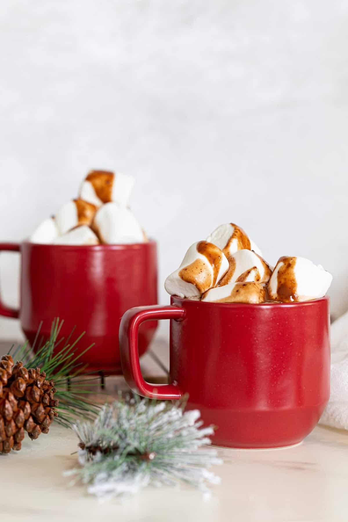 Creamy Homemade Caramel Hot Chocolate