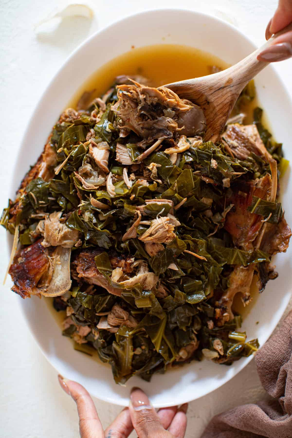 Leftover Turkey Southern Collard Greens