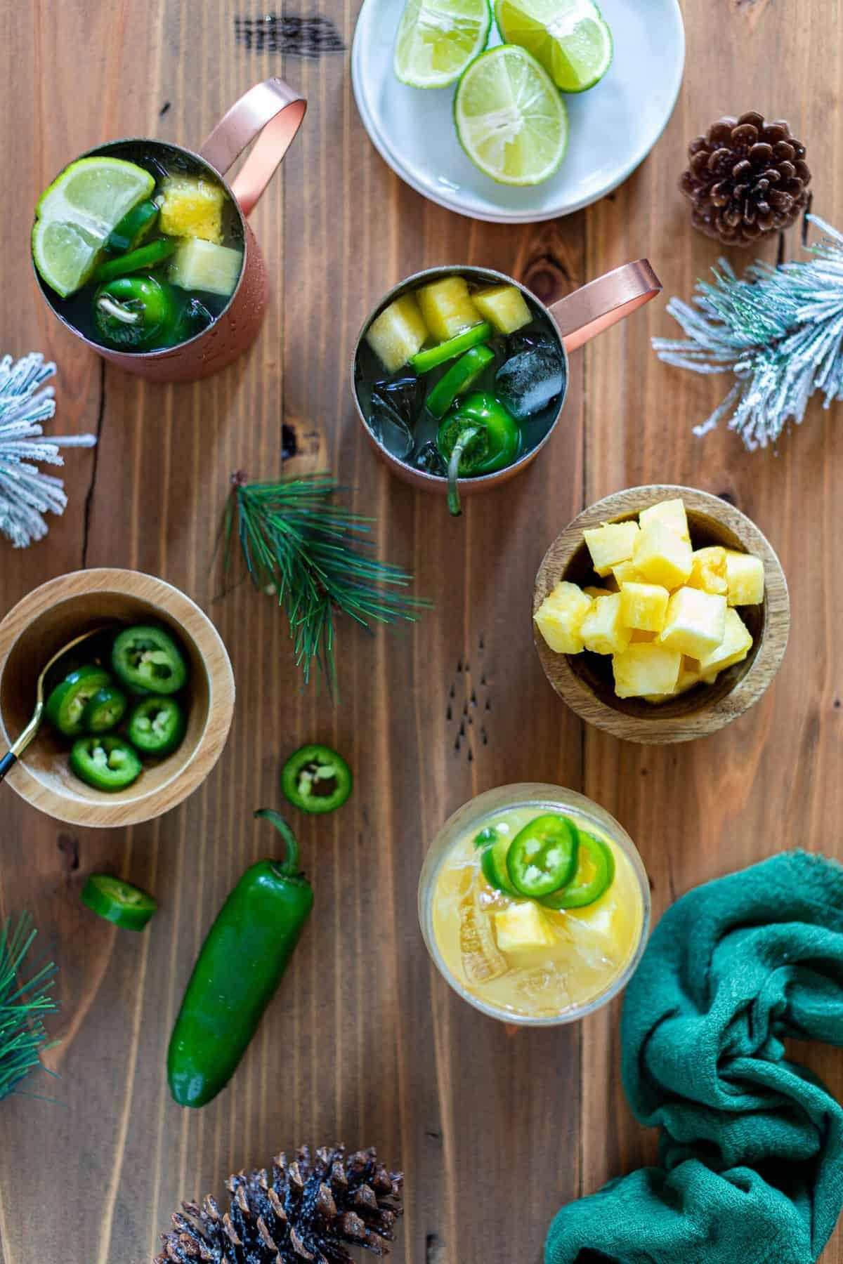 Pineapple Jalapeño Lime Mocktail
