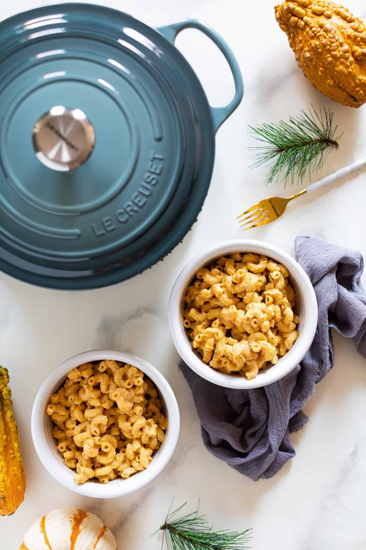Easy Vegan Pumpkin Mac + Cheese