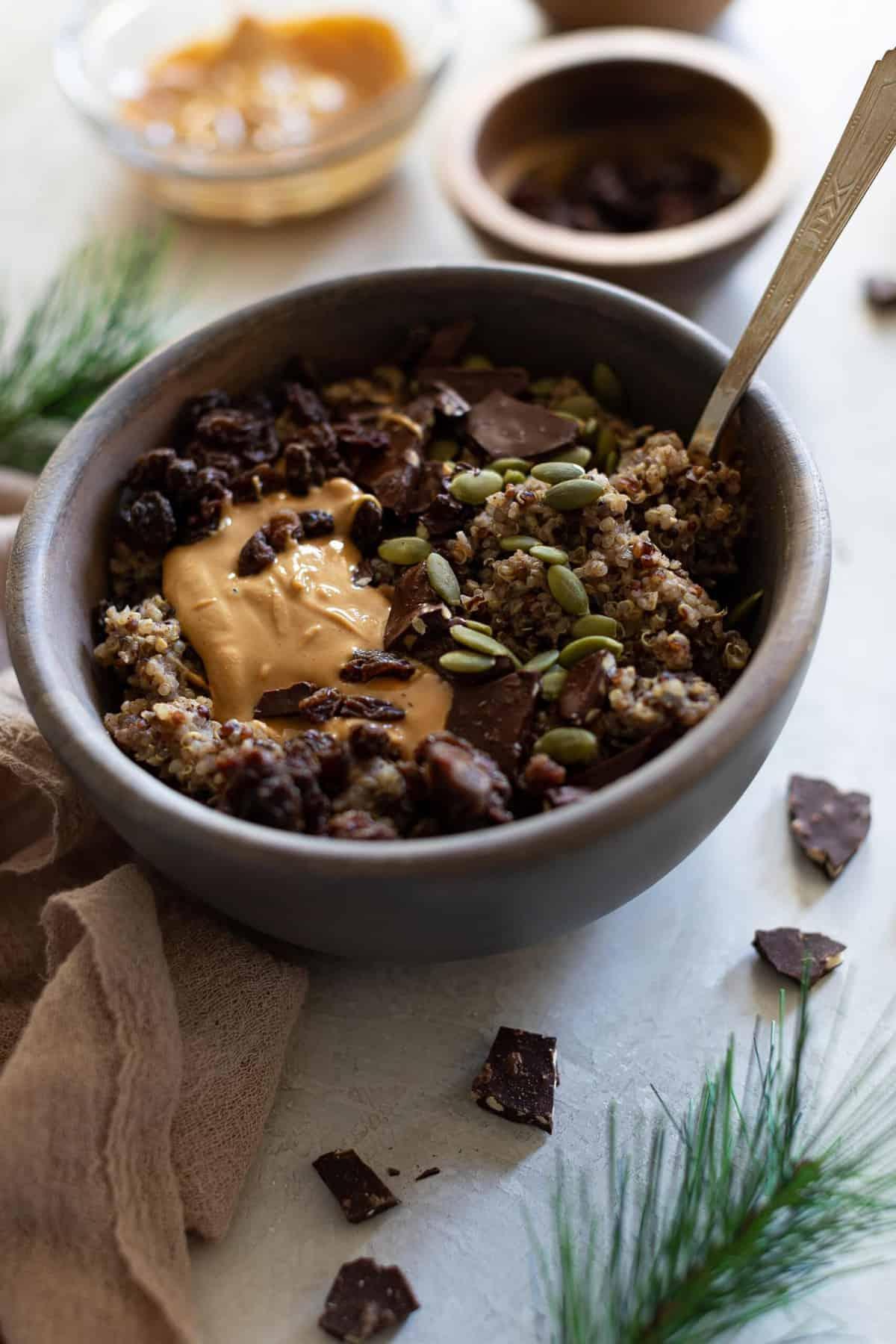 10-Minute Fall Harvest Quinoa Breakfast Bowl