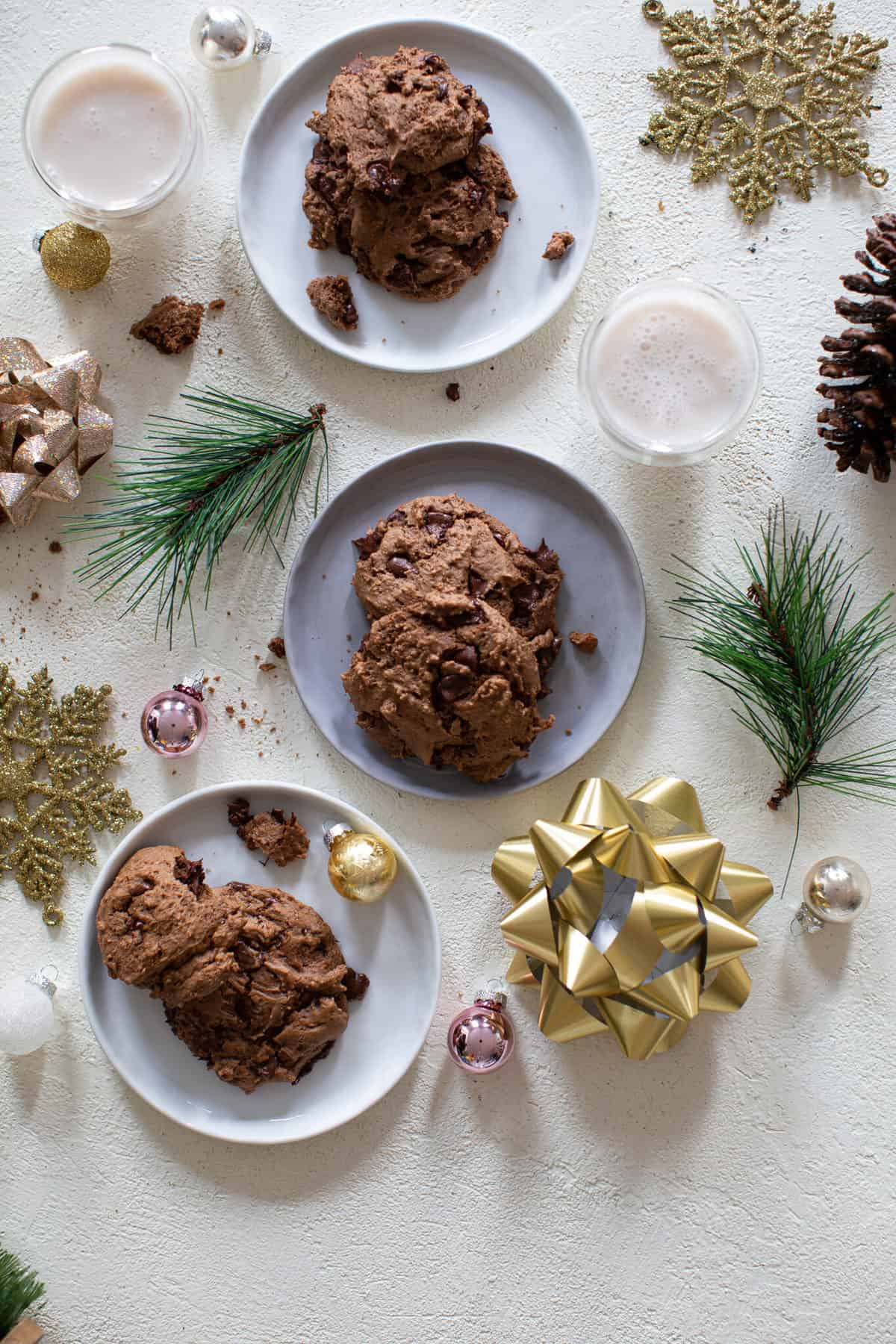 Chewy Double Chocolate Brownie Cookies