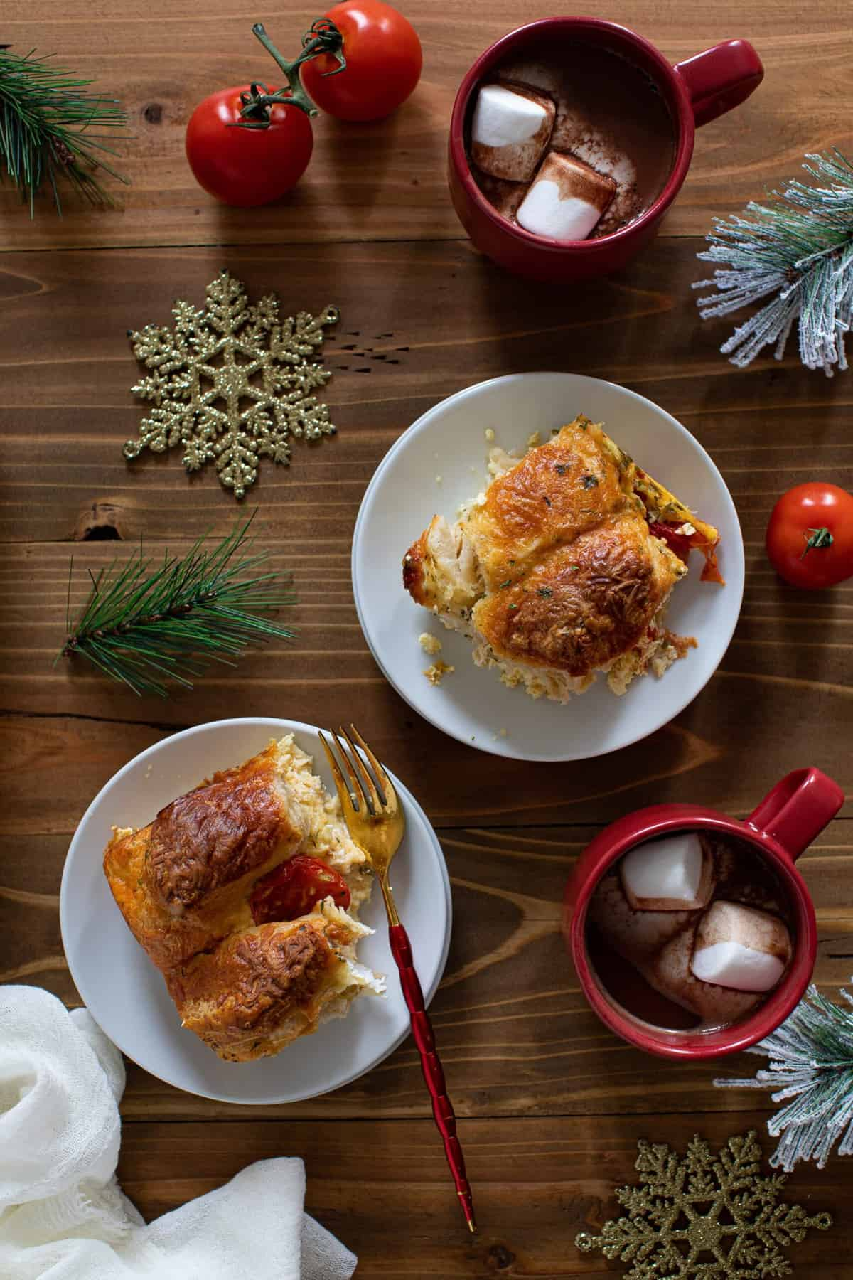 Southern Caprese Biscuit Breakfast Strata