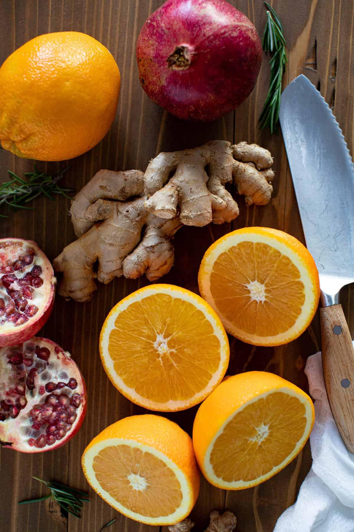 Sparkling Cranberry Orange Ginger Mocktail