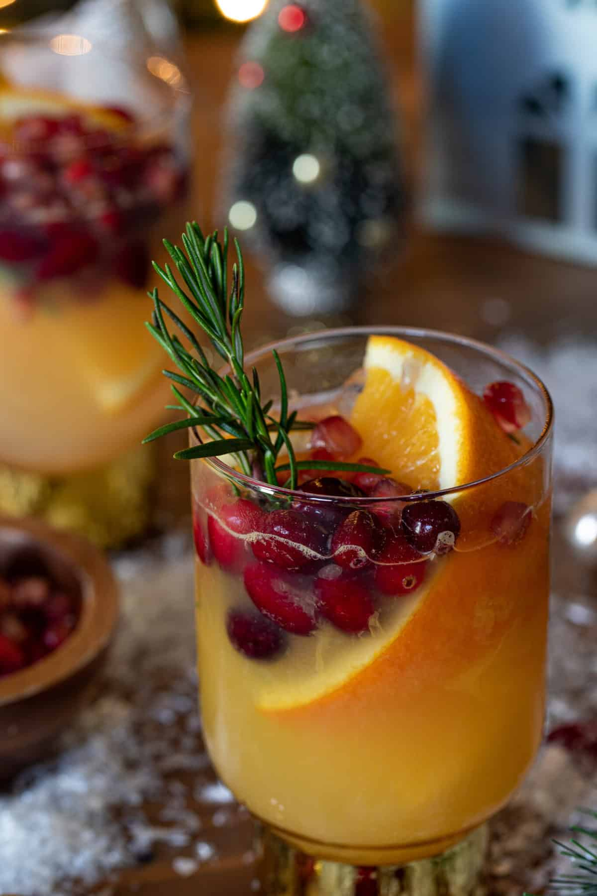 Sparkling Cranberry Orange Ginger Mocktail