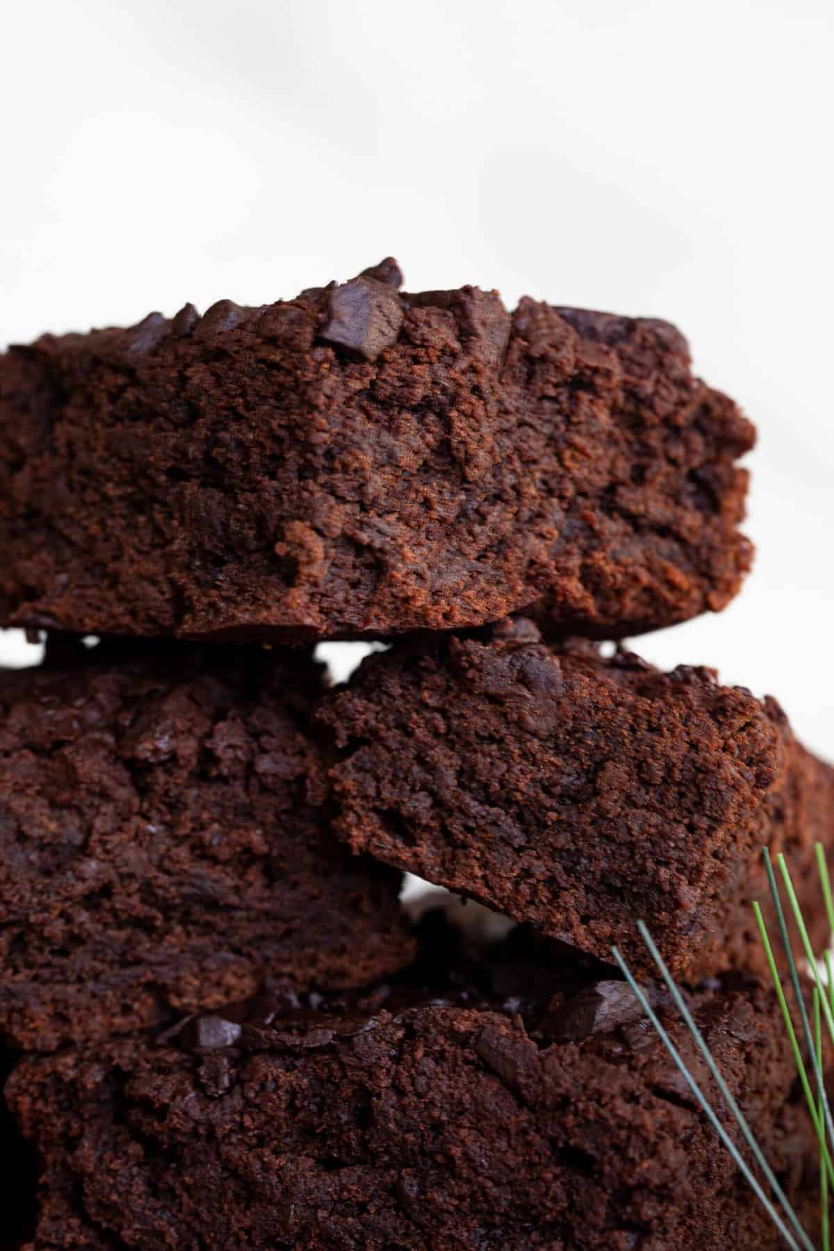 Homemade Sugar Free Vegan Caramel Brownies