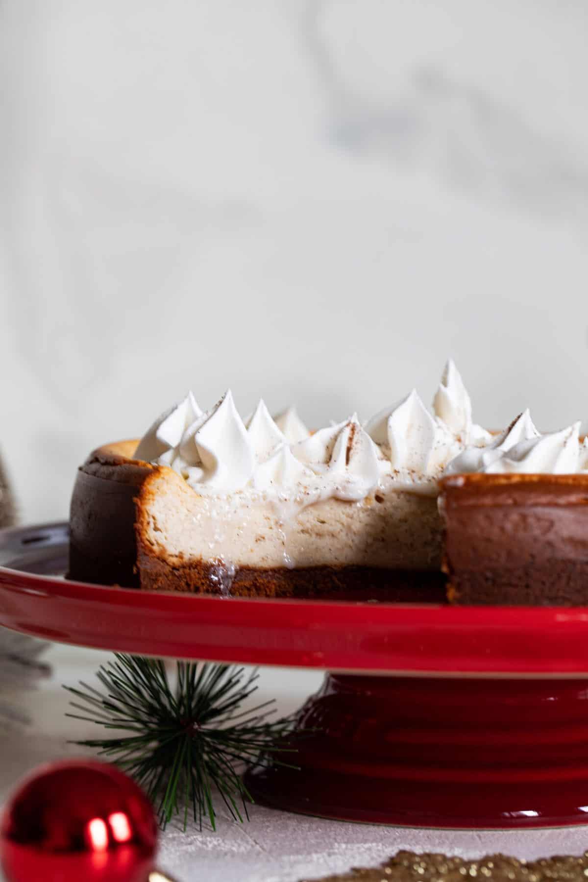 Spiced Chai Cheesecake + Gingersnap Crust