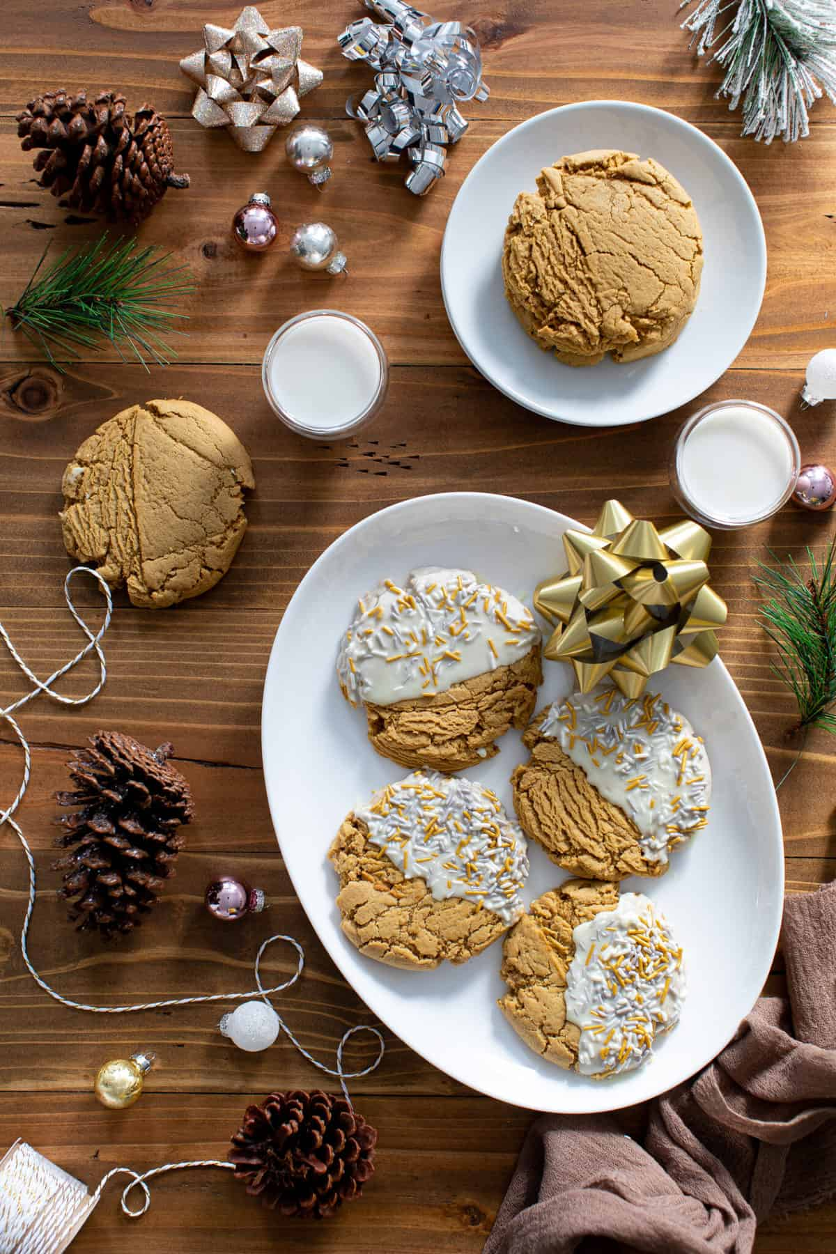 Soft + Chewy Christmas Gingerbread Cookies