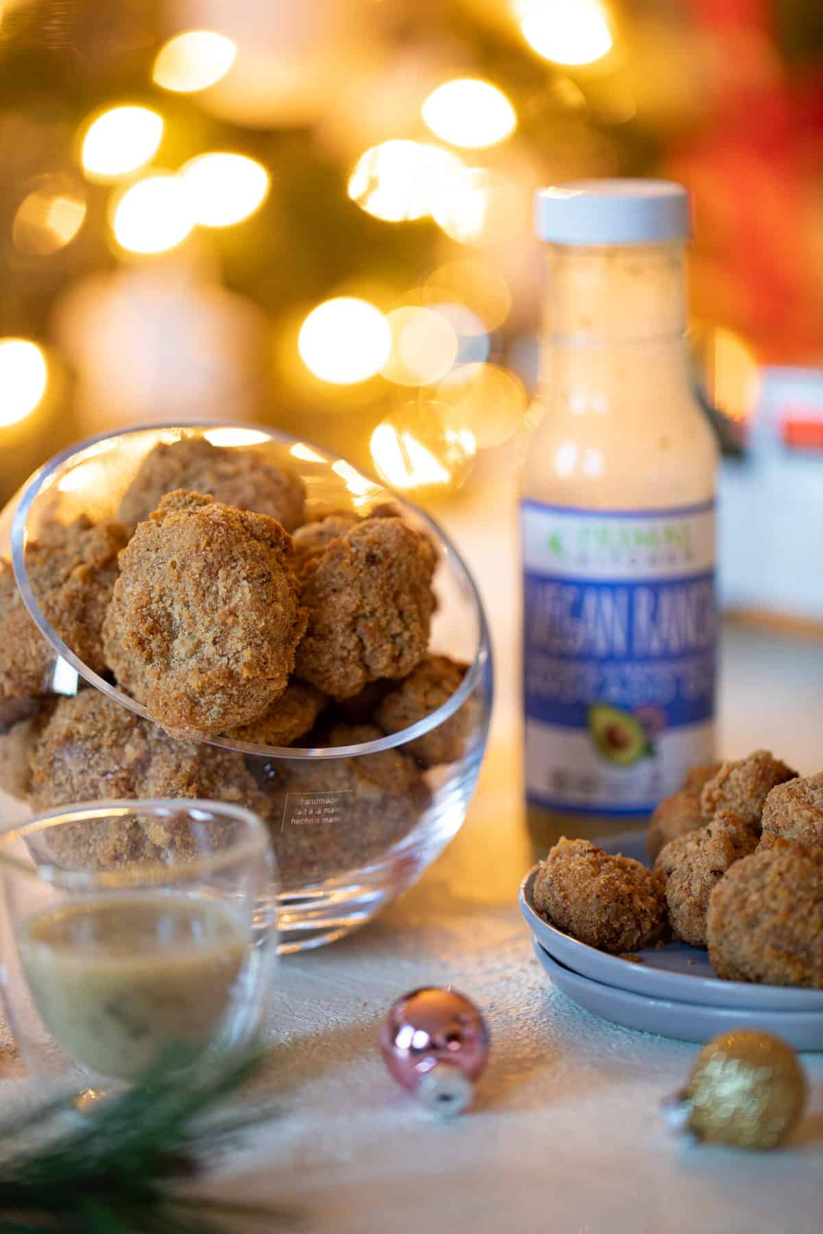 Crispy Vegan Ranch Popcorn Cauliflower Bites