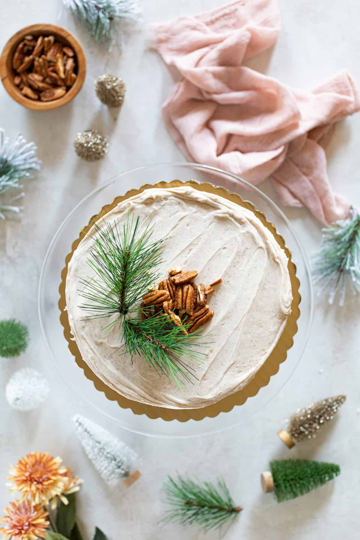 Best Carrot Cake + Chai Cream Cheese Frosting